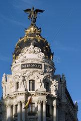 Madrid  Spanien  das Edificio Metropolis auf der Gran Via