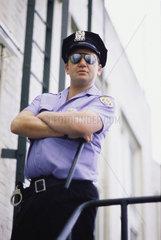 Hamburg  Deutschland  Amerikanischer Polizist