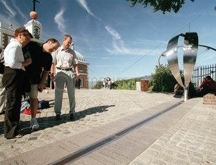 Der Nullmeridian am Observatorium  Greenwich