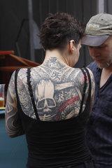 Tattoierte Ruecken