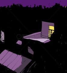 Rooftops at night