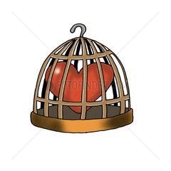 Heart in birdcage