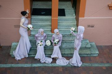 Sydney  Australien  Brautjungfern im Stadtviertel The Rocks