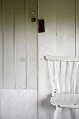 Chair by door