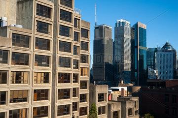 Sydney  Australien  Sozialer Wohnungsbau mit Siriusgebaeude im Stadtviertel The Rocks