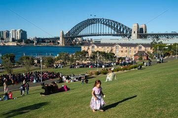 Sydney  Australien  Sydney Harbour Bridge und Headland Park