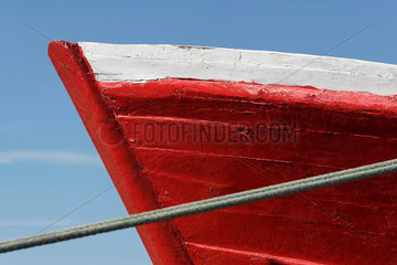 Prow of boat  extreme close-up