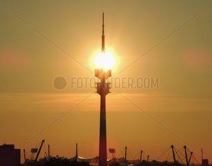 Sonnenuntergang Olympiaturm 2