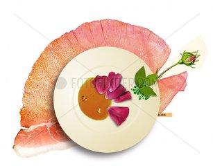 Serie Collage Food Rosenblaetter
