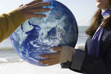 Ecology concept  protecting the earth