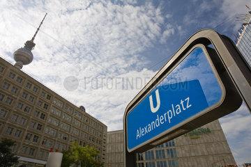 Germany  Berlin  Alexanderplatz subway entrance