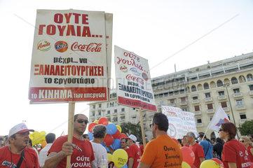 Kundgebung der kommunistischen (KP-nahen) Gewerkschaft PAME