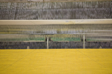 Fabric coating plant  recyclable composite textile weaving department  textile composite fabric on loom