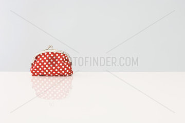 Change purse with polka dots