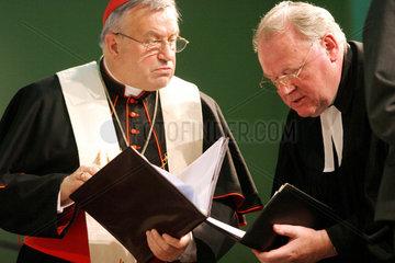 Karl Kardinal Lehmann und Manfred Kock