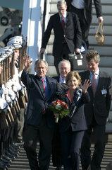 George W. Bush und seine Frau Laura Bush