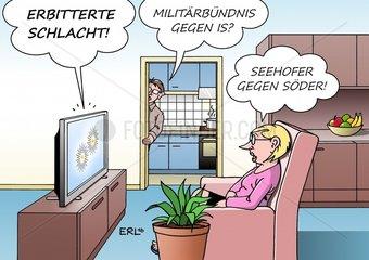 Erbitterte Schlacht Mossul IS CSU Seehofer Soeder