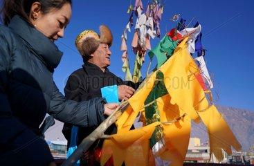CHINA-TIBET-NEW YEAR-PRAYER FLAG (CN)