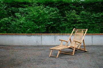 Liegestuhl aus Bambus