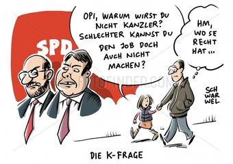 K-Frage in der SPD : Schulz vor Gabriel
