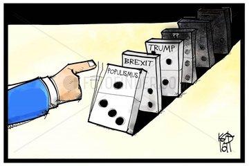 Populismus-Domino
