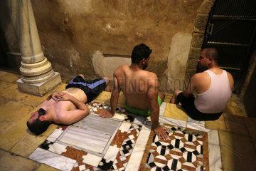 MIDEAST-GAZA CITY-TURKISH STEAM BATH