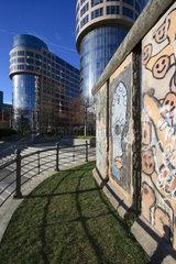 Berlin  drei Mauersegmente am Bundesministerium des Innern