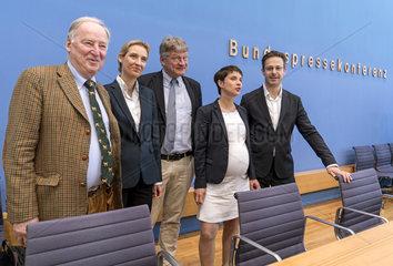 Gauland + Weidel + Meuthen + Petry + Pretzell