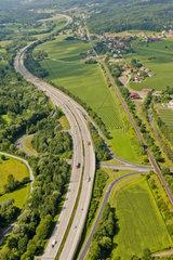 Autobahn  Oststeiermark  Luftaufnahme