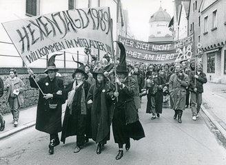 Demonstration gegen den __ 218  Memmingen  1989