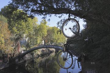 Abgesicherte Fahrrad im Berlin