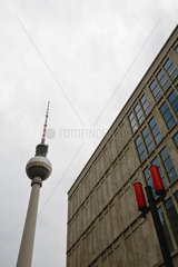 Germany  Berlin  Alexanderplatz  the Fernsehturm (television tower)