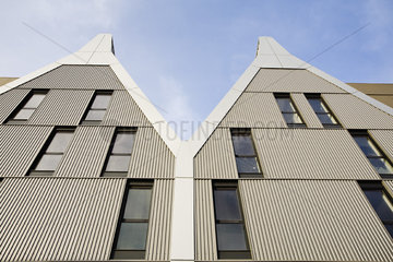 Modern apartment buildings  low angle view