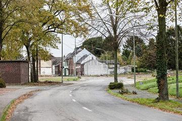 Immerath  wegen Braunkohlefoerderung verlassenes Dorf