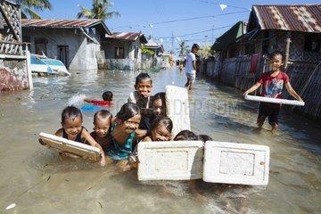 Ueberflutete Insel in einer Danger Zone