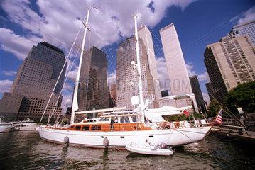 New York  USA  Jachthafen am World Financial Center