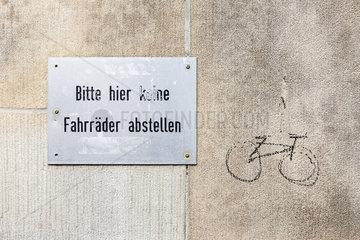 Fahrradstadt Muenster - Fahrradabstellverbot