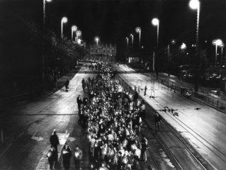 Montagsdemonstration im Oktober 1989