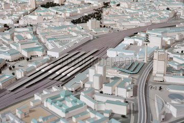 Hannover  Deutschland  Modell der Stadt Hannover im Jahr 2014 mit dem Neuen Rathaus