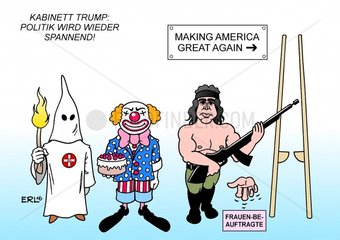 Kabinett Trump USA Praesident Populismus