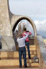 La Sagrada Familia aus der Casa Mila