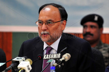 PAKISTAN-ISLAMABAD-INTERIOR MINISTER-ATTACK