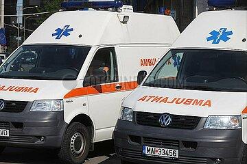 Rettungswagen in Rumaenien