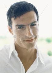 Man smiling  portrait