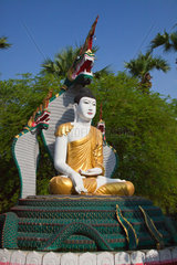 KYAIK PUN PAYA is 4 sitting BUDDHA STATUES looking out in four directions  BAGO  MYANMAR