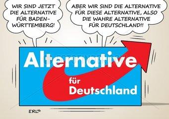 Alternative AfD Machtkampf Meuthen Petry Baden-Wuerttemberg