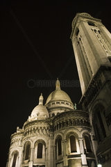 France  Paris  Montmartre  Sacre Coeur at night