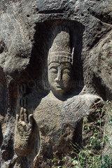 Buddha  bas relief statue  Myanmar
