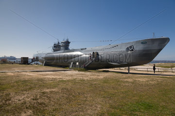 Laboe  Deutschland  Museums-U-Boot U 995 am Strand von Laboe
