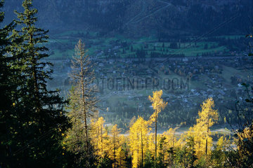 Chamonix  high angle view